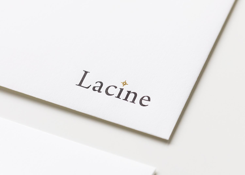 Lacine封筒デザイン
