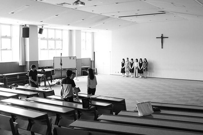 聖霊中学校様VAP選考入試パンフレットメイキング